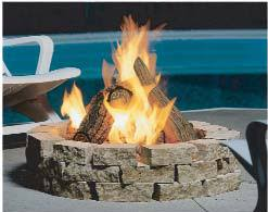 Firepit Logs Outdoor Gas Pit Logs Surround Outdoorsy Ideas