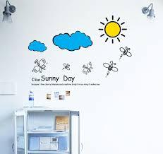 chambre la journ e diy j aime journée ensoleillée abeille nuage enfants vinyle