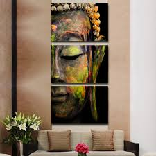 online shop 3 piece canvas art buddha painting wall art paintings