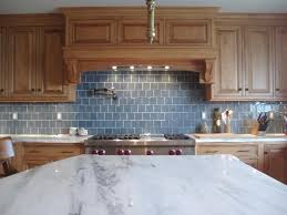 blue kitchen tile backsplash backsplash oak cabinets maple cabinets