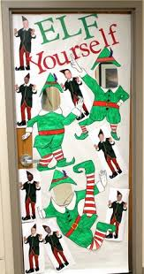 christmas classroom door decorations buddy the elf spreading