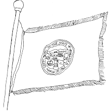 flag of nebraska coloring page in state coloring page eson me