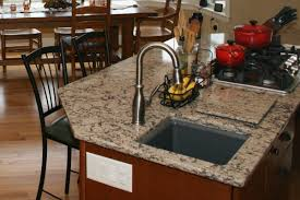 Kitchen Island With Prep Sink Cabinetry Wine Bottle Storage Dura - Kitchen prep sinks