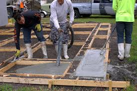 How To Pour Concrete Patio Create A Stylish Patio With Large Poured Concrete Pavers