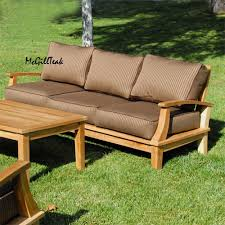 Teak Garden Table Patio Deep Seating Bali Lounge Set