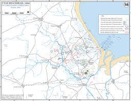 Normandy Map Of Wwii Utah Beachhead D Day June 6 1944