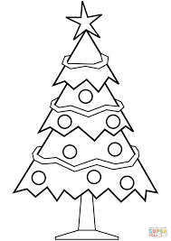 simple christmas tree coloring page free printable coloring pages