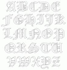 fonts tattoos