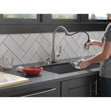 Kitchen Faucets Touch Technology Dominic Single Handle Pull Down Sprayer Kitchen Faucet With