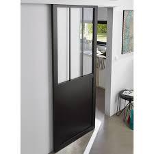 porte de chambre castorama porte coulissante vitrée atelier 83 cm castorama seule et portes