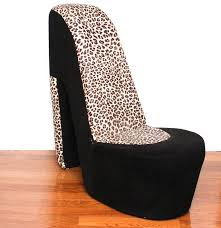 Leopard Print Swivel Chair Leopard Print High Heel Shoe Chair Ebth