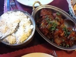 kashmir indian cuisine basmati rice and lamd bhuna picture of kashmir indian restaurant