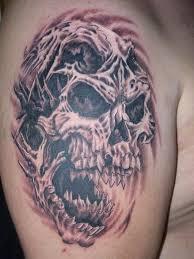 evil skeleton tattoos clown model photo design idea for