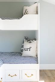 White Bunk Bed Drawers With Rope Handles Cottage Boys Room - White bunk bed with drawers