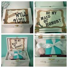 will you be my of honor ideas bridesmaid boxes and box