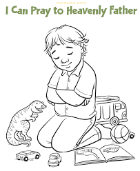 tithing coloring page prayer clipart teaching lds children