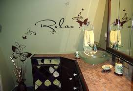 relaxing bathroom decorating ideas butterfly shower curtain besides butterfly bathroom accessories