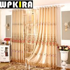 Gold Living Room Curtains Europe Villa Terrace Curtain Luxury Lace Curtain Panels Gold