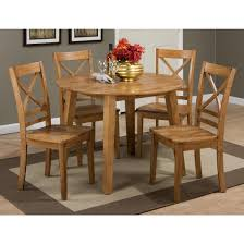 drop leaf dining room tables jofran simplicity round drop leaf dining table set table in honey