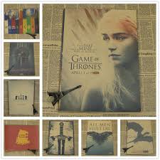 vintage game of thrones series poster cafe bar painting home decor