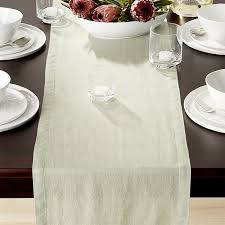 sage green table runner helena sage green linen 90 table runner reviews crate and barrel