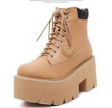 womens designer boots size 12 sale brown black platform combat boots ankle boots