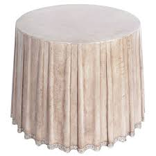 Carson Coffee Table Leather Draped Center Table By Marge Carson At 1stdibs