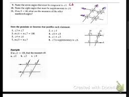 geometry 3 2 concept guide properties of parallel lines youtube