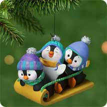 2001 penguins at play hallmark ornament at ornament mall for