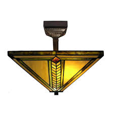 stained glass ceiling light fixtures warehouse of tiffany 2 light antique bronze mission stained glass