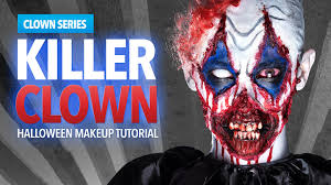Halloween Scary Makeup Tutorial by Killer Clown Halloween Makeup Tutorial Youtube