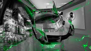 Lamborghini Veneno Green - lamborghini veneno crystal home fly city energy car 2015
