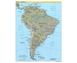 Usa Map With Capitals Map Of South America With Capitals