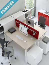 bureau partagé bureau bench open space 2 postes gaia équipez vos locaux