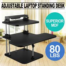 rocelco dadr premium height adjustable sit stand desk computer