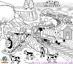 10 thomas coloring images thomas
