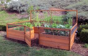 amazon com fenced raised garden bed kit 8 u0027x12 u0027 container
