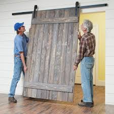 barn doors how to build a simple rustic barn door the family handyman