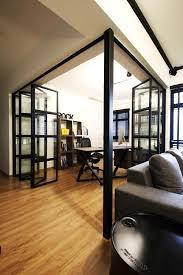 sengkang industrial hdb interior design study u0026 living room with