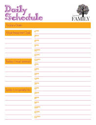 printable daily schedule daily schedule printable becoming family