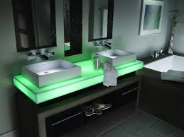Mint Green Bathroom by Corian Countertop With Led Lights Master Bathroom Pinterest