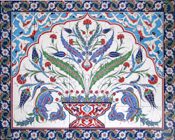 Kitchen Tile Murals Tile Art Backsplashes by Hand Painted Iznik Turkish Tiles And Tile Panels