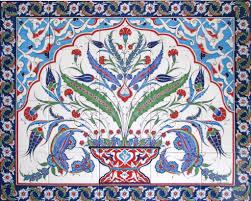 Kitchen Tile Murals Tile Art Backsplashes Hand Painted Iznik Turkish Tiles And Tile Panels