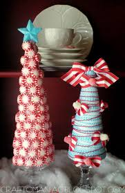 christmas craft whimsical candy ribbon trees craft o maniac