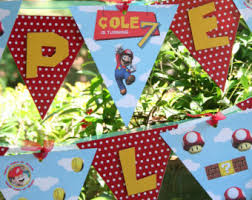 Super Mario Decorations Super Mario Party Etsy