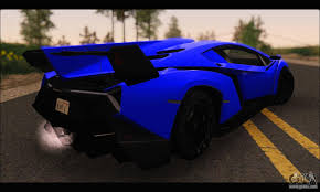 blue and black lamborghini lamborghini veneno white black 2015 add ivf for gta san andreas