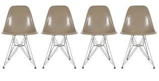 eames teak dining table u0027dtm u0027 and eiffel chairs u0027dsr u0027 set for