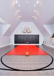 Basketball Court In A House Where Do People Get This Money - Home basketball court design