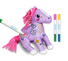 amazon com breyer pony gals scribbles color and wash pony plush