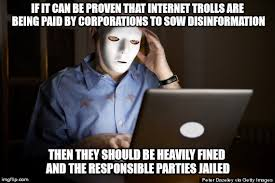 Internet Troll Meme - paid to troll imgflip